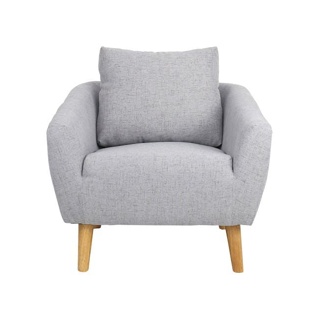 Hana 2 Seater Sofa with Hana Armchair - Light Grey - 6