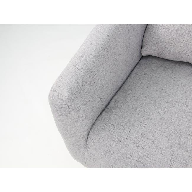 Hana 2 Seater Sofa with Hana Armchair - Light Grey - 7