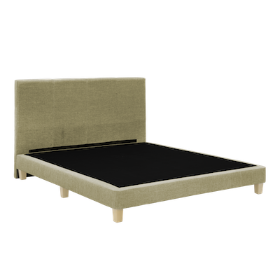 ESSENTIALS Headboard Bed - Khaki (Fabric) - 4 Sizes - Image 2