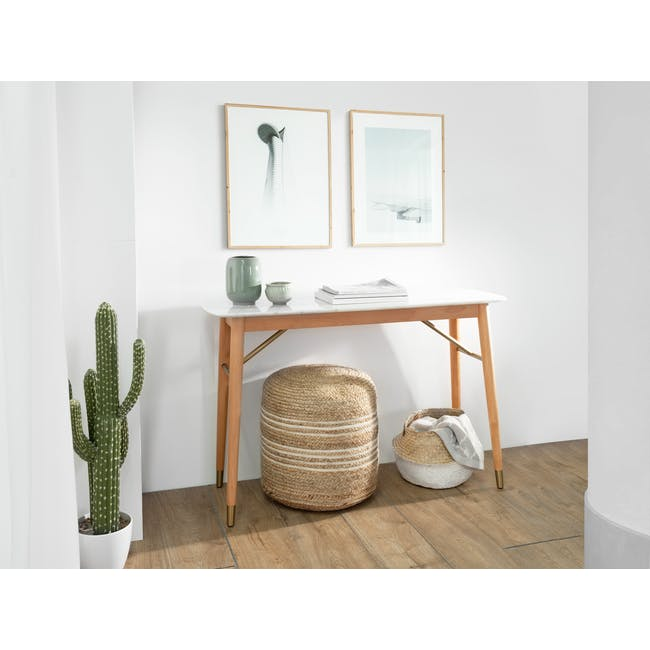 (As-is) Hagen Marble Console Table 1.2m - 1 - 9