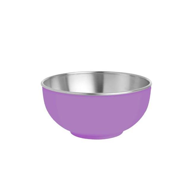 Zebra Stainless Steel Colour Bowl - Purple - 0