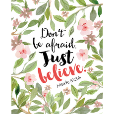 Don't Be Afraid Canvas Art Print
