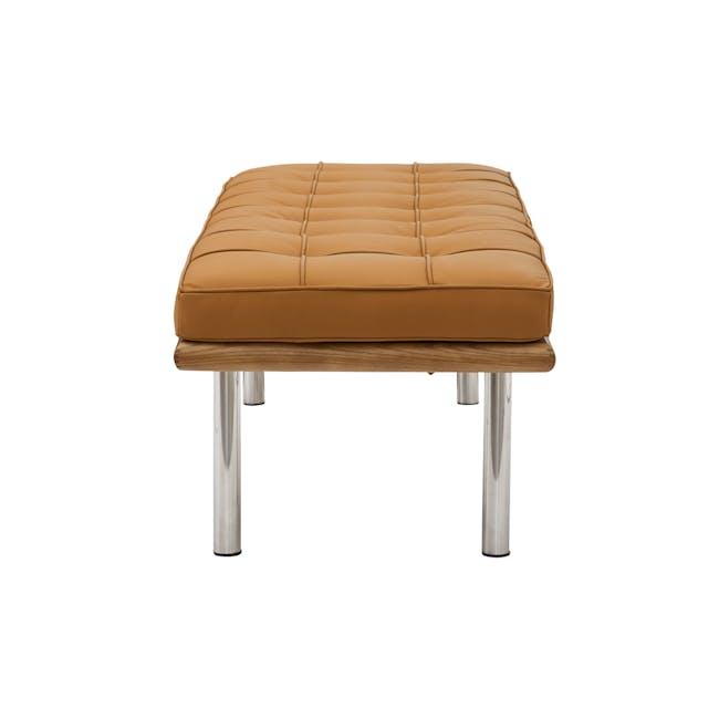 Barcelona 2 Seater Bench Replica - Tan (Genuine Cowhide) - 2