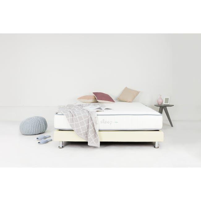 ESSENTIALS Single Divan Bed - White (Faux Leather) - 1