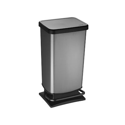 Rotho 40L Stepbin - Carbon - Image 2