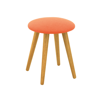Poppy Stool - Natural, Tangerine