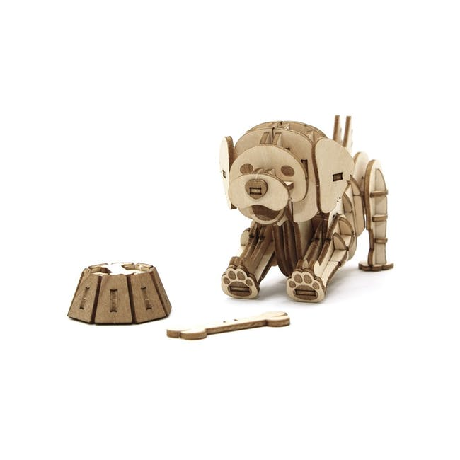 Jigzle Lifestyle Animal Golden Retriever 3D Wooden Figurine - 0