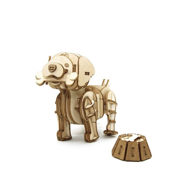 Jigzle Lifestyle Animal Golden Retriever 3D Wooden Figurine - 6