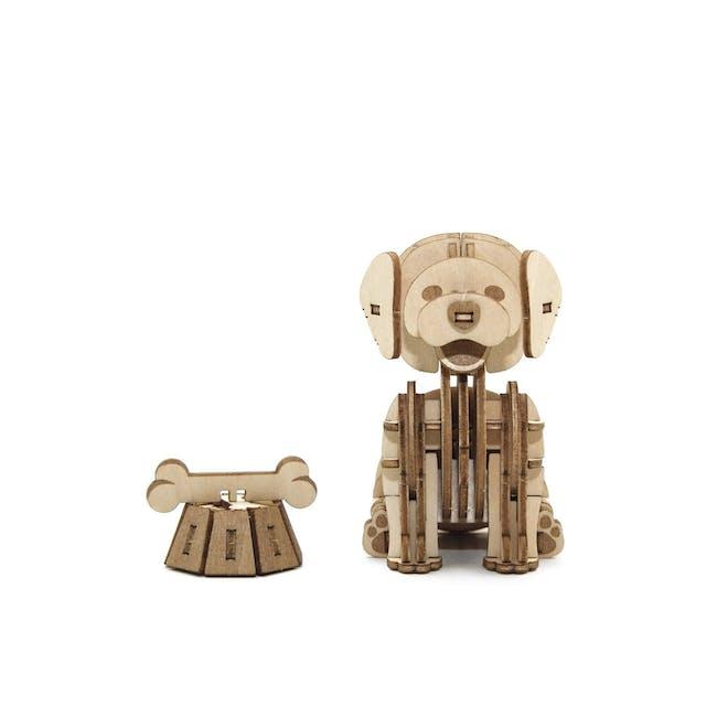 Jigzle Lifestyle Animal Golden Retriever 3D Wooden Figurine - 7