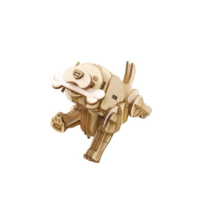 Jigzle Lifestyle Animal Golden Retriever 3D Wooden Figurine - 1