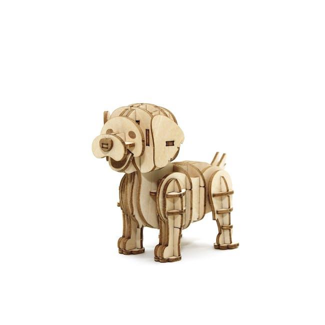 Jigzle Lifestyle Animal Golden Retriever 3D Wooden Figurine - 3