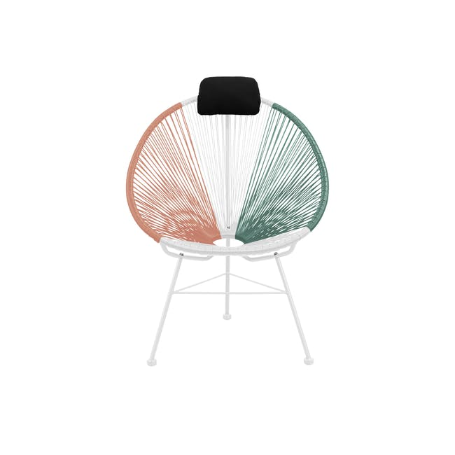 Acapulco Lounge Chair - Pink, White, Green Mix - 0