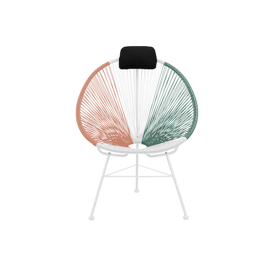 HipVan Bundles - Acapulco Chairs with Acapulco Coffee Table - Pink, White, Green Mix