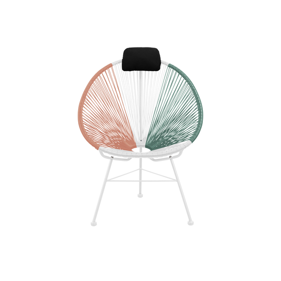 HipVan Bundles - Acapulco Lounge Chairs with Acapulco Coffee Table - Pink, White, Green Mix
