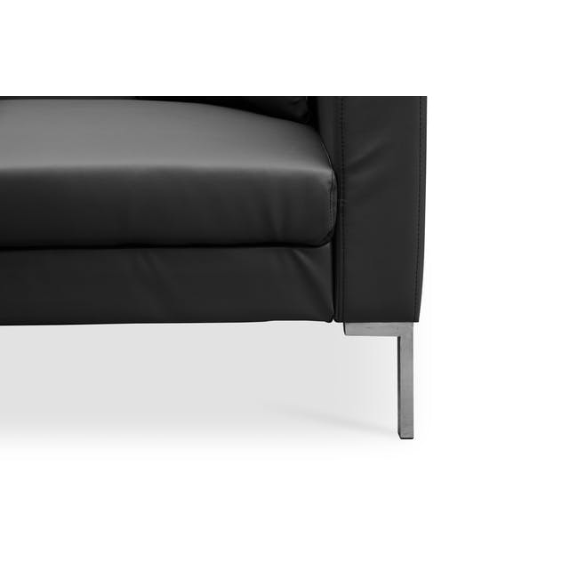 Leslie Sofa Bed - Slate Grey (Faux Leather) - 8