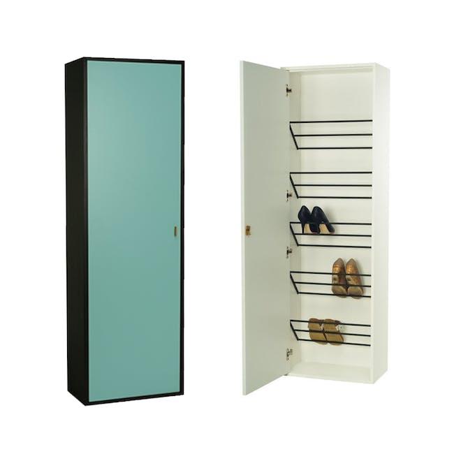 Taber Shoe Cabinet - Light Green - 1