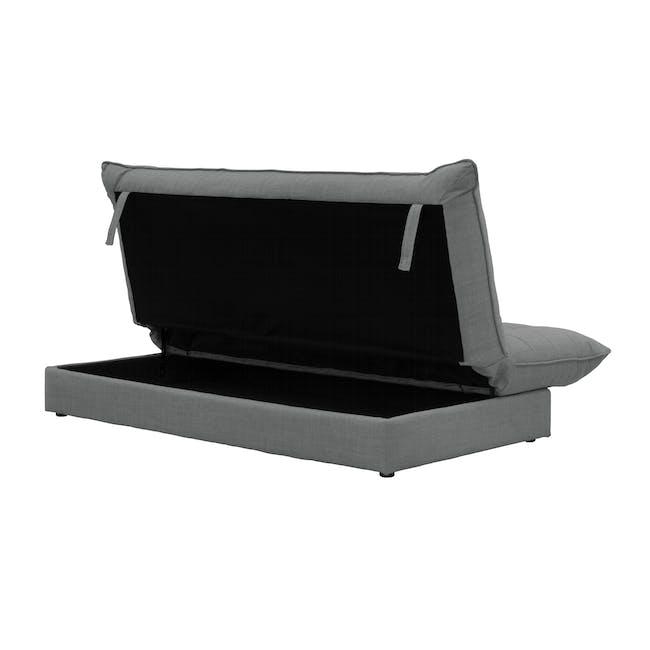 Tessa L-Shaped Storage Sofa Bed - Pigeon Grey - 10