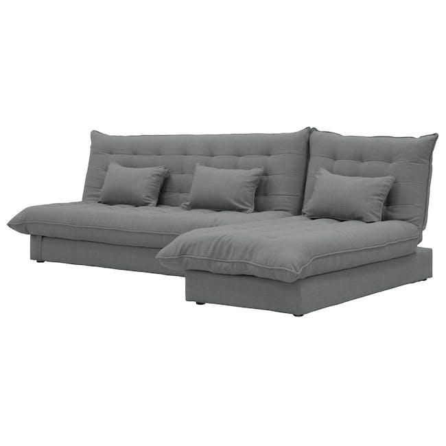 Tessa L-Shaped Storage Sofa Bed - Pigeon Grey - 6