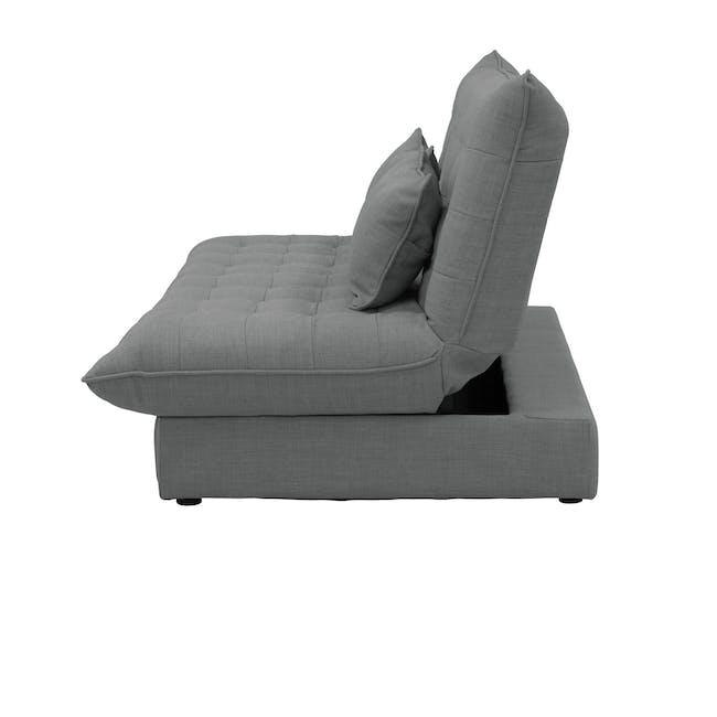 Tessa L-Shaped Storage Sofa Bed - Pigeon Grey - 14