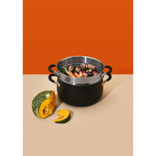 Meyer Accent Series Stainless Steel Casserole with Lid - 24cm 4.7L - 16