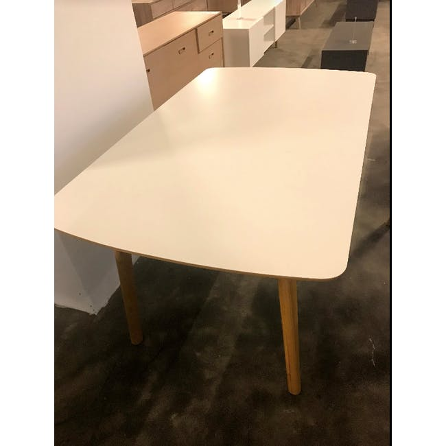 (As-is) Jazz Dining Table 1.5m - White, Oak - 1