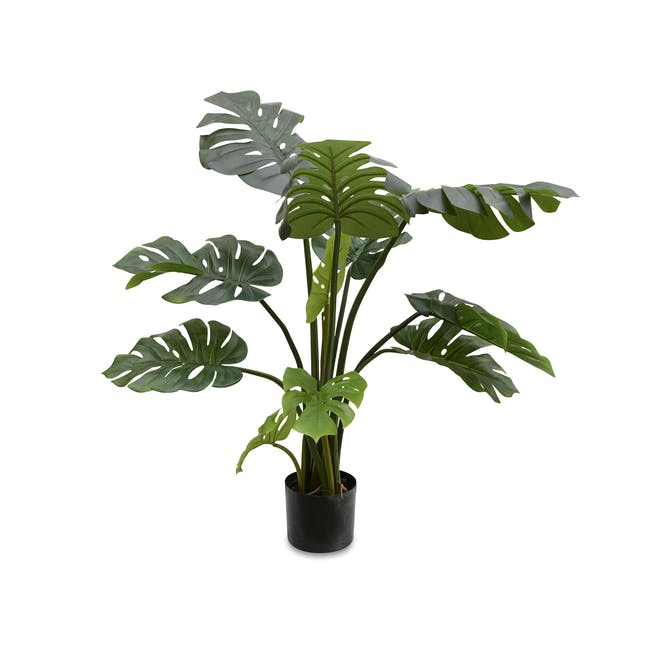 Potted Faux Monstera Tree 90 cm - 0