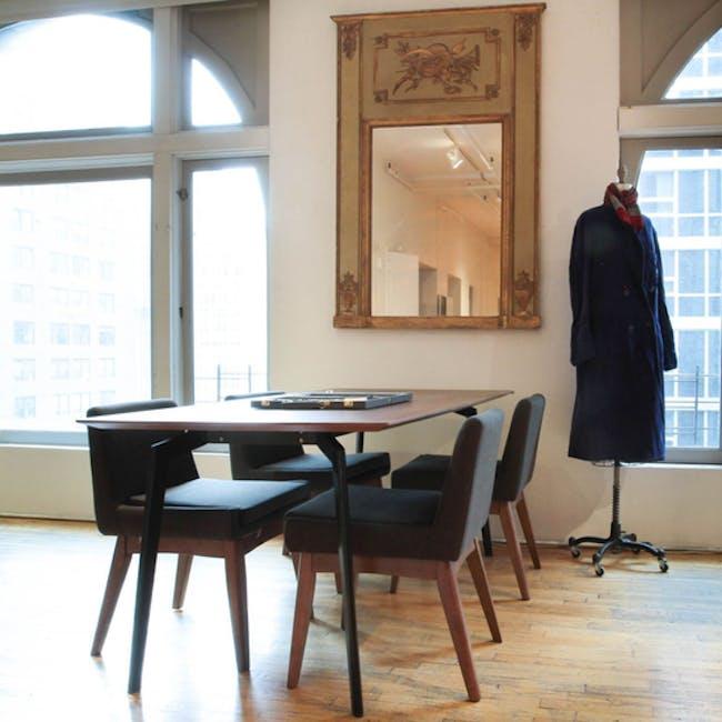 Fabian Dining Chair - Cocoa, Aquamarine - 1