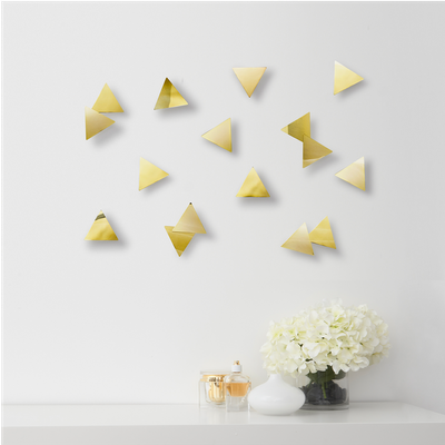 Confetti Triangles Wall Decal (Set of 16) - Brass - Image 2