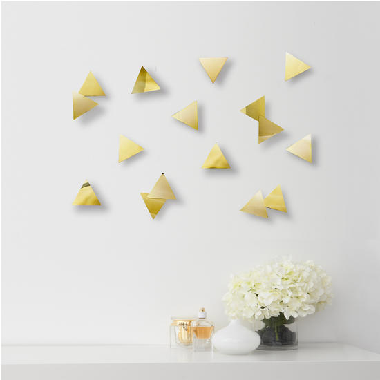 Umbra - Confetti Triangles Wall Decal (Set of 16) - Brass
