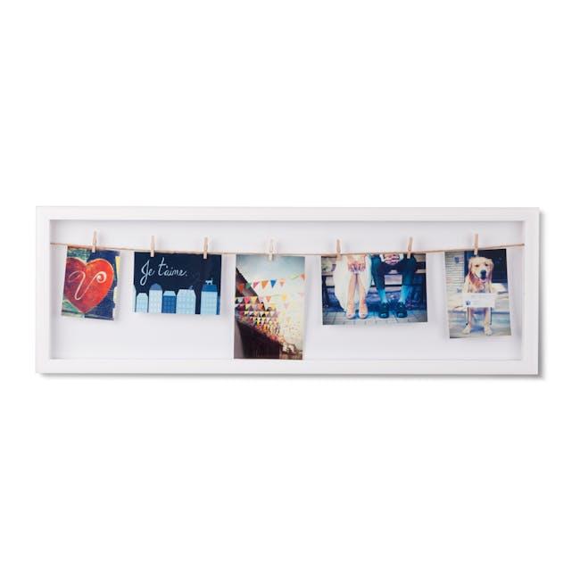 Clothesline Flip Photo Display - White - 1