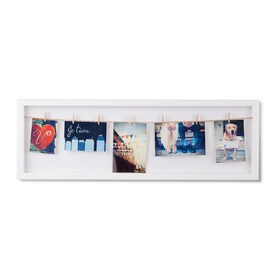 Clothesline Flip Photo Display - White - Image 2