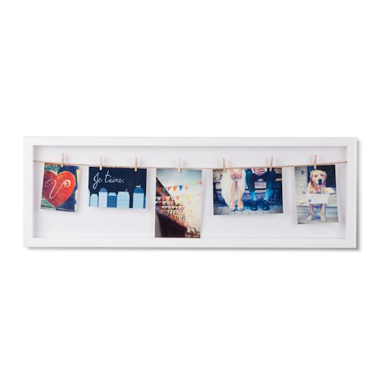 Clothesline Flip Photo Display - White - Image 1