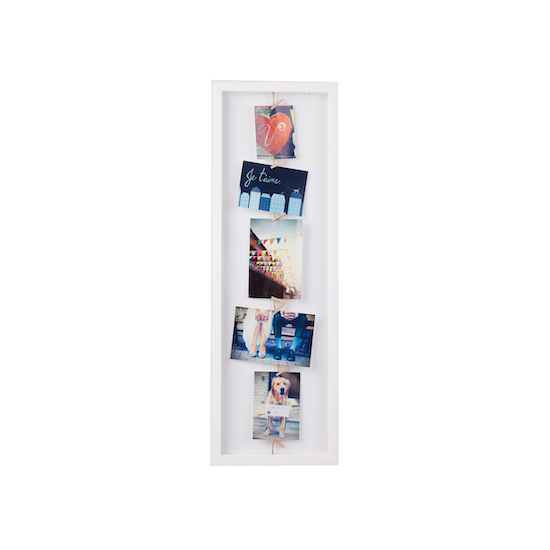 Umbra - Clothesline Flip Photo Display - White