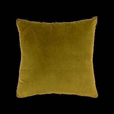Alyssa Velvet Cushion - Mustard - Image 1