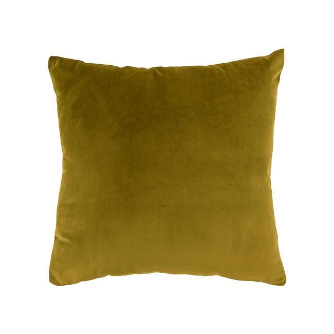 Alyssa Velvet Cushion - Mustard - 0