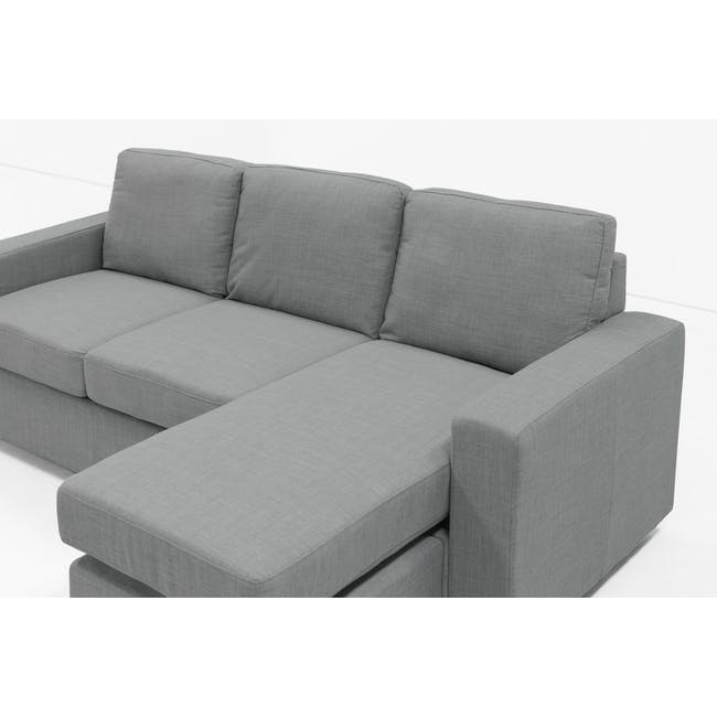 Hank L-Shaped Sofa - Pigeon Grey - 3