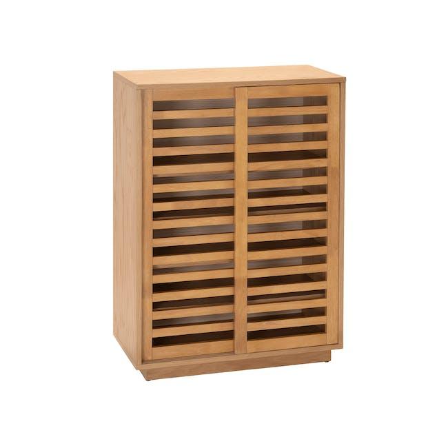 Keita Shoe Cabinet - Oak - 0