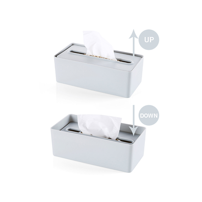 Laura Tissue Box - Blue Grey - Image 2