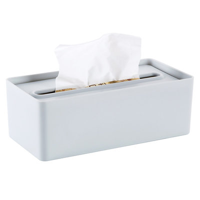 Laura Tissue Box - Blue Grey - Image 1