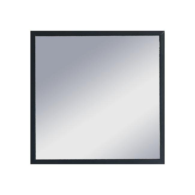 Hosta Square Mirror 40 x 40 cm - Black - 0