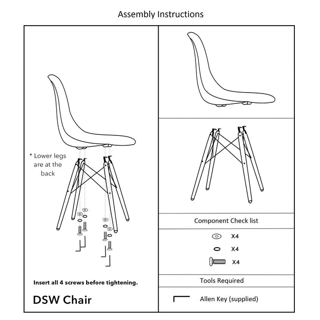 DSW Chair Replica - Natural, Clear - 3