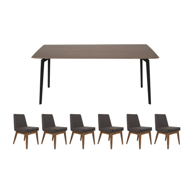 Dexter 8 Seater Dining Room Set - Walnut - Image 1