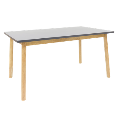 Kendall 6 Seater Dining Table - Natural, Graphite Grey - Image 1