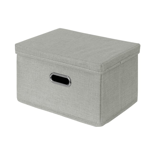 Leonard Fabric Storage Box - Light Grey - Large - 0