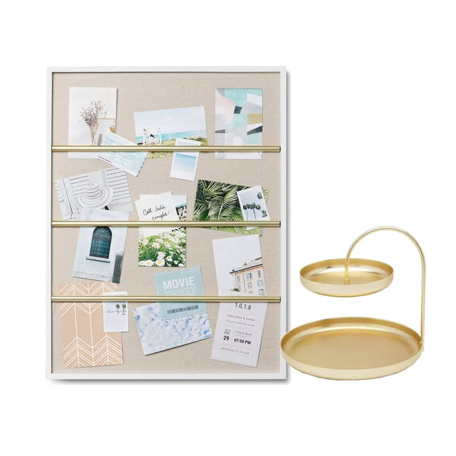 Tucker Wall Photo Display with Poise 2-Tiered Tray - 0