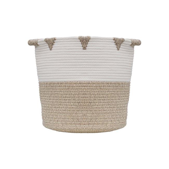 Lucia Rope Storage Basket - Beige - 0