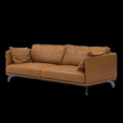 Como 3 Seater Sofa - Tan (Premium Cowhide) - Image 2