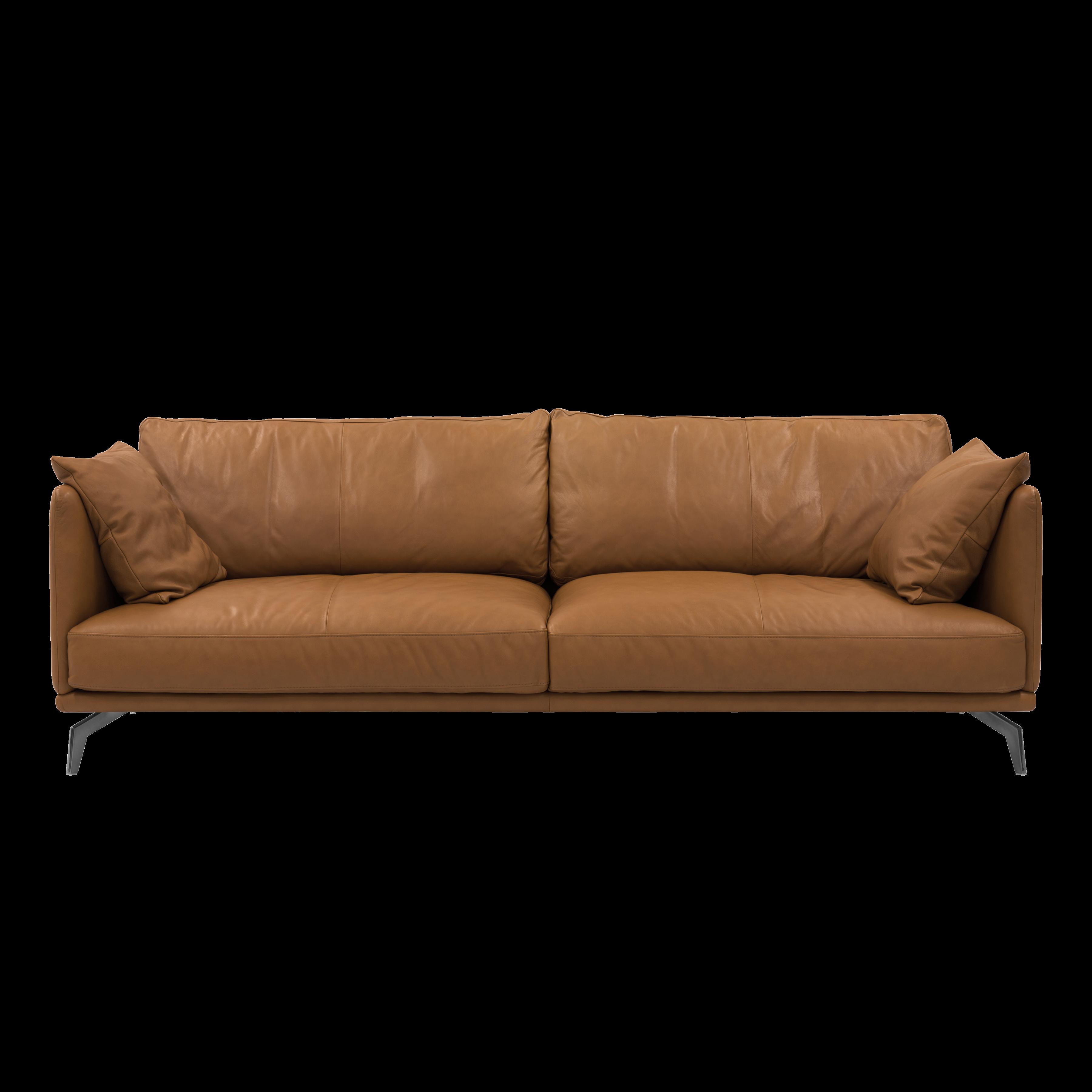 ... Como 3 Seater Sofa   Tan (Premium Cowhide)   Image 1