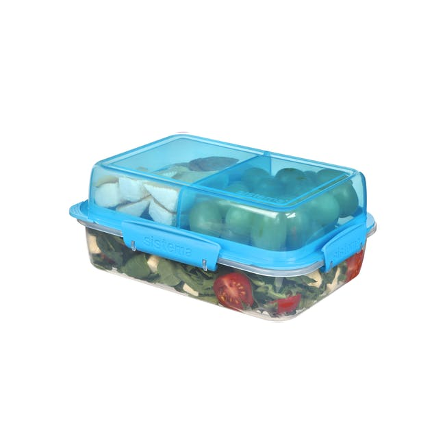 Sistema Lunch Stack To Go Rectangle 1.8L - Blue - 2