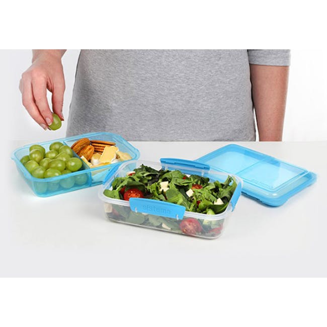 Sistema Lunch Stack To Go Rectangle 1.8L - Blue - 1